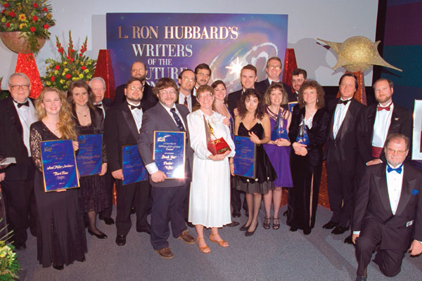 Writer winners and judges.