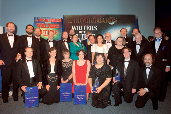 1996 writer winners and presenting judges.
