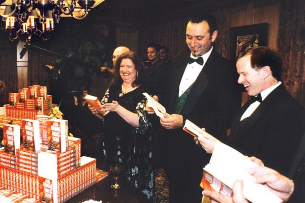 Winners seeing their story in print.