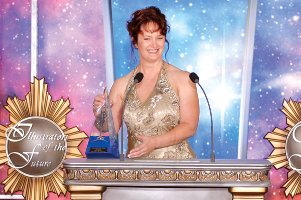 Writer winner Diana Rowland