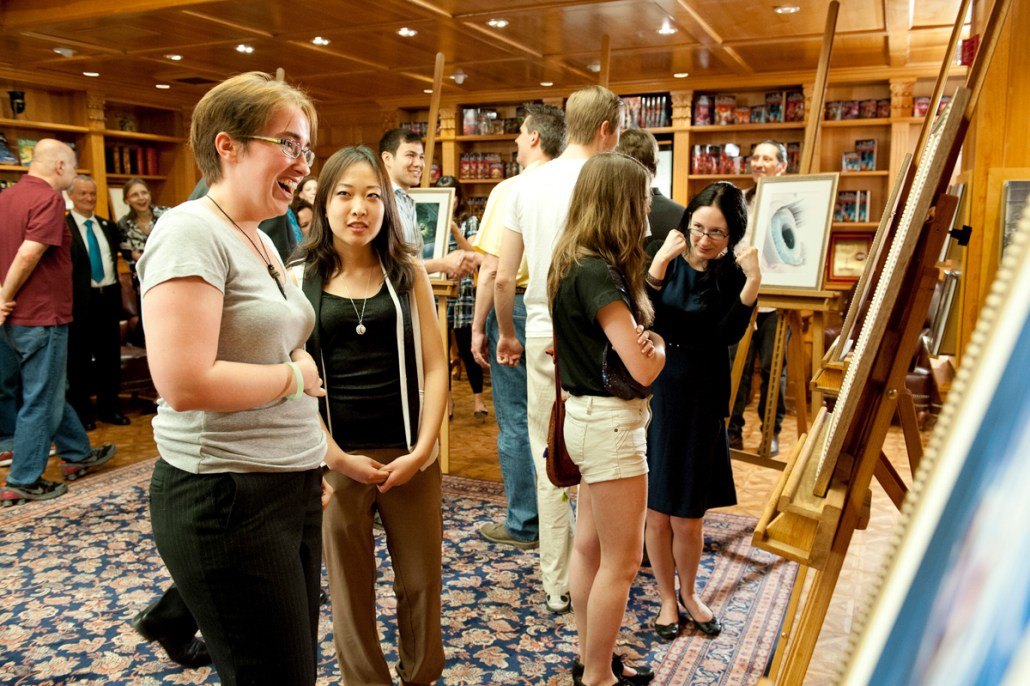 Writer winner K.C. Norton and artist winner Kristie Kim discuss Kristie's piece for K.C.'s story.