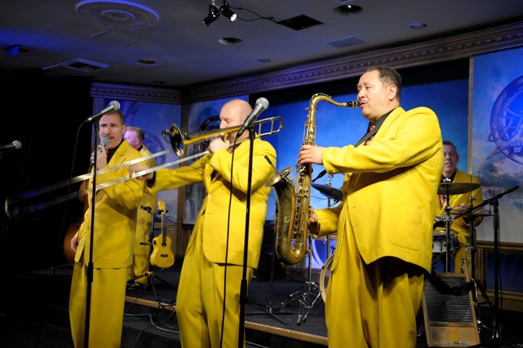 The Jive Aces performing at the L. Ron Hubbard Fiction Reading