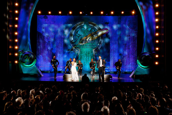 """Opening performance """"Living Off the Page"""" with Drew Seeley, Cassie Simone and Hollywood Hotshots dancers."""