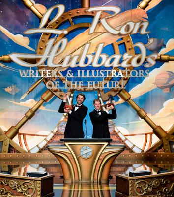 Gold Award Winners (writer) Matt Dovey and (illustrator) Adrian Massaro.