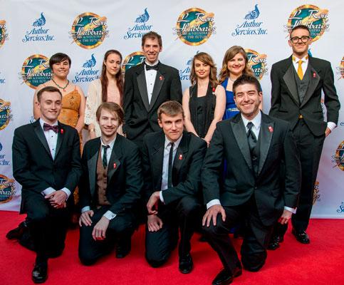 Illustrator Winners on the red carpet.