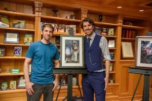 Illustrator Adrian Massaro and writer Matt Dovey.