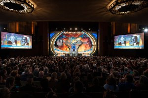 The opening of the 2015 Writers and Illustrators of the Future Awards ceremony held at the Wilshire Ebell Theater in Los Angeles.
