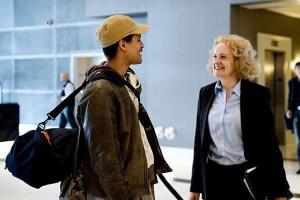 Illustrator winner Taylor Payton arriving at the Hollywood Loews Hotel