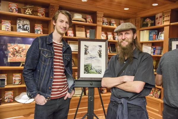 Illustrator Paul Otteni and writer Stewart Baker