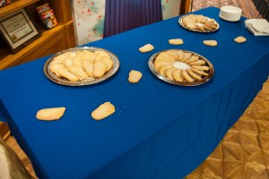 """Sugar cookies shaped as feet for Leena Likitalo's story """"Giants At the End of the World"""""""