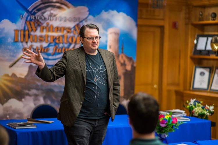 Brandon Sanderson addresses the Writer winners