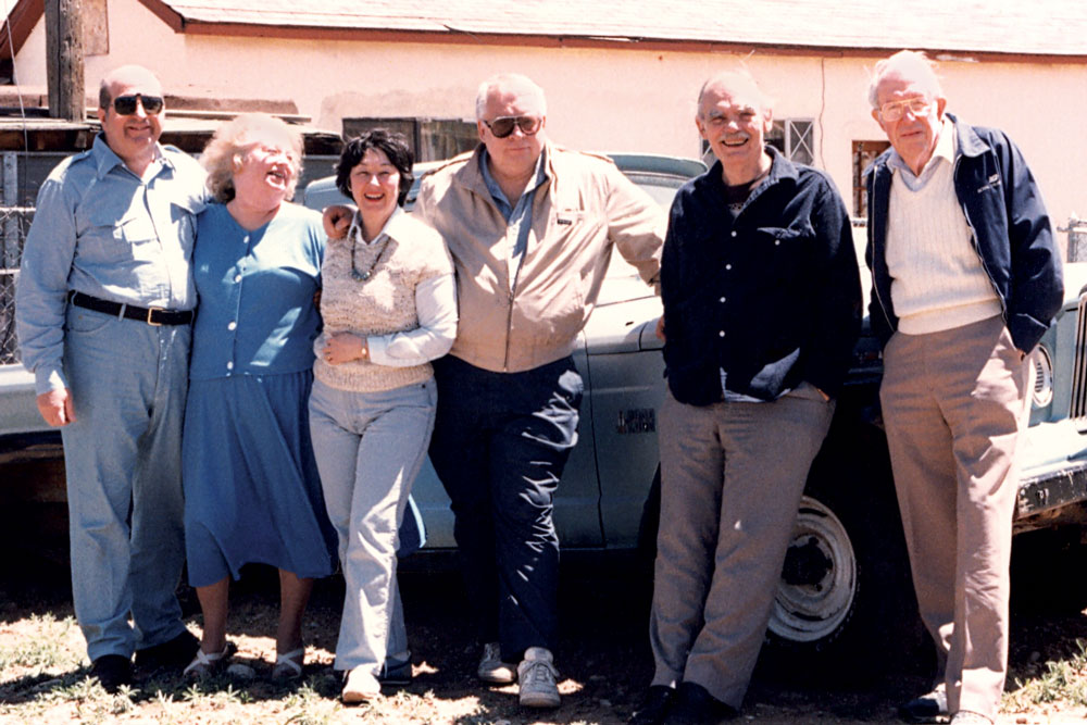 Frederik Pohl at the 1986 Taos Workshop