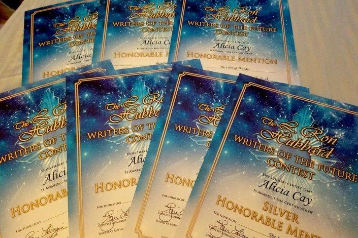 Alicia Cay certificates