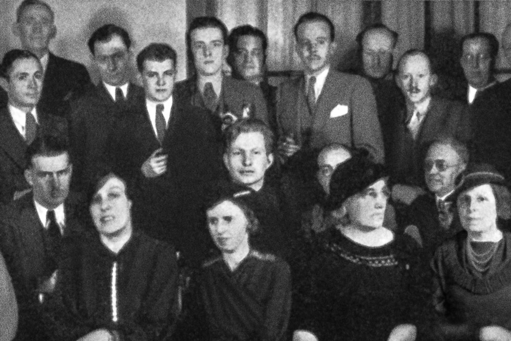 L. Ron Hubbard as president of the New York Chapter of the American Fiction Guild in 1936
