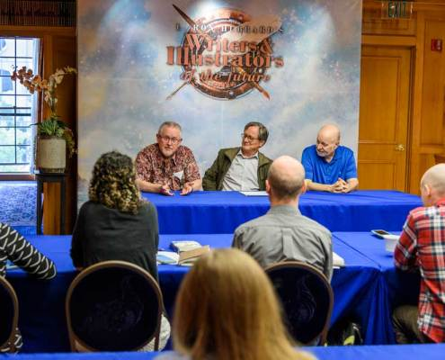 Orson Scott Card, Tim Powers and David Farland