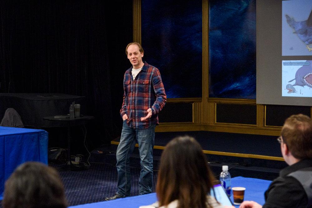 Craig Elliott at Illustrators of the Future Workshop