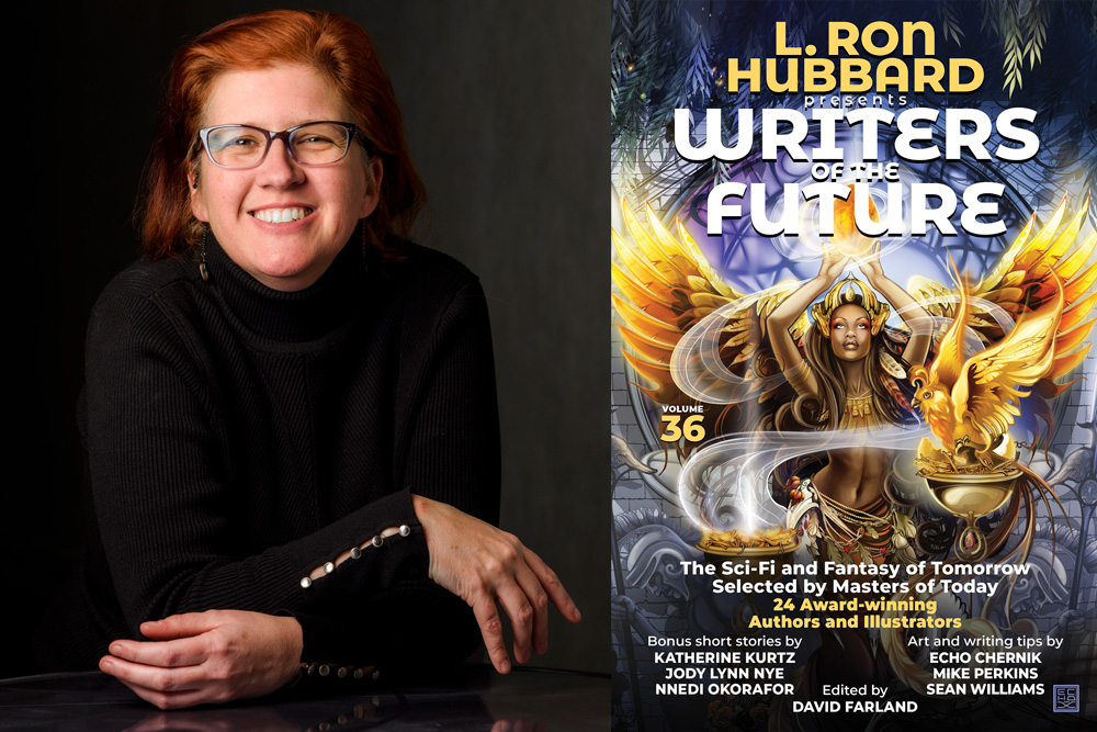 Writers of the Future 36 cover art by Echo Chernik