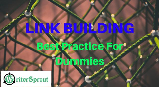 LINK BUILDING: Best Practice For Dummies