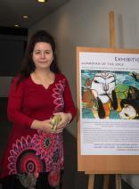 Agnes Marton from Luxembourg visits La Bodeguita in Dafni (Writer's Retreats Greece)