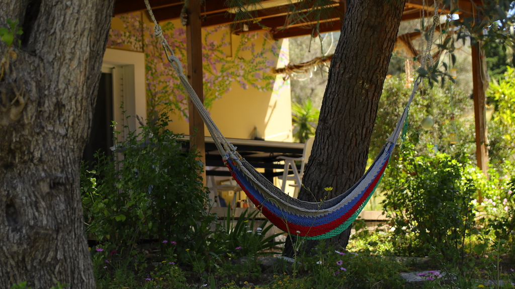 Hammock in La Bodeguita Writing Retreat, Greece