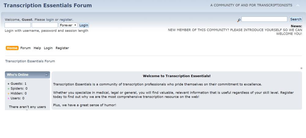 Transcription Forums