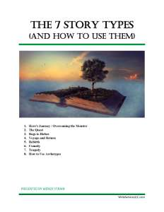 The 7 Story Types and How to Use Them cover