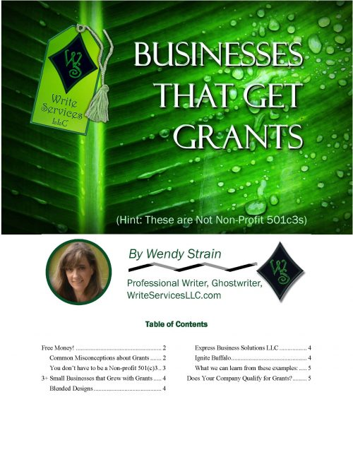Businesses That Get Grants