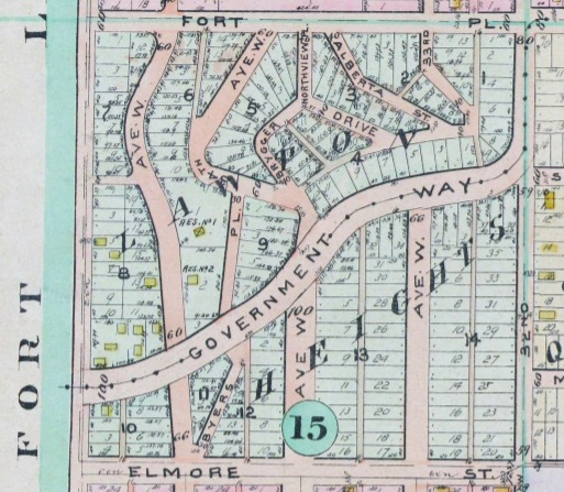Map of Lawton Heights Addition, Magnolia, 1912 Baist Atlas