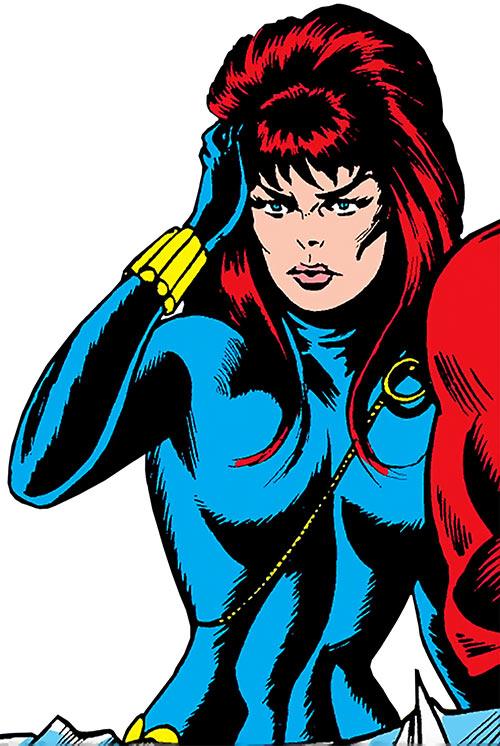 Black Marvel Captured Drawings Widow