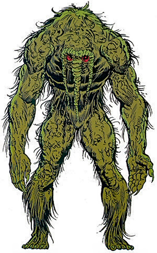 Man Thing Marvel Comics Swamp Creature Character