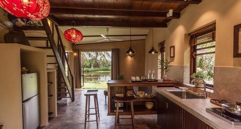 Meditation Retreat Vietnam - Write Your Journey: An Villa Boutique Resort Hoi An, spacious kitchen in one of the villas.