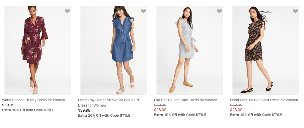 8080ecf758a Old navy has FANTASTIC sales on dresses and cute work clothes quite often.  Check out their website to see if a sale is happening! They have the best  dresses ...