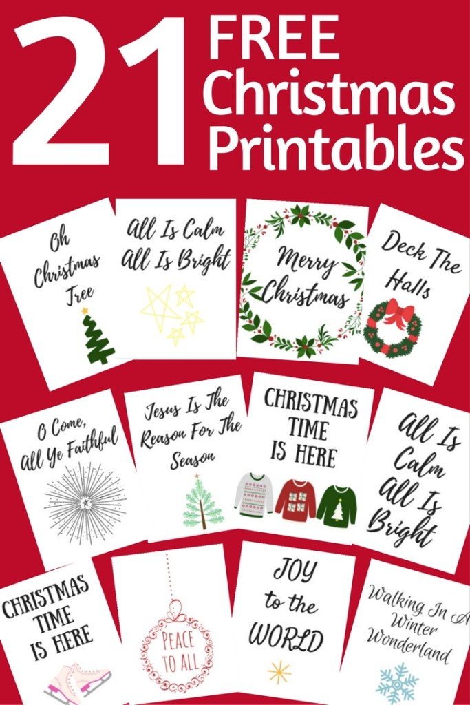 free christmas decor printables