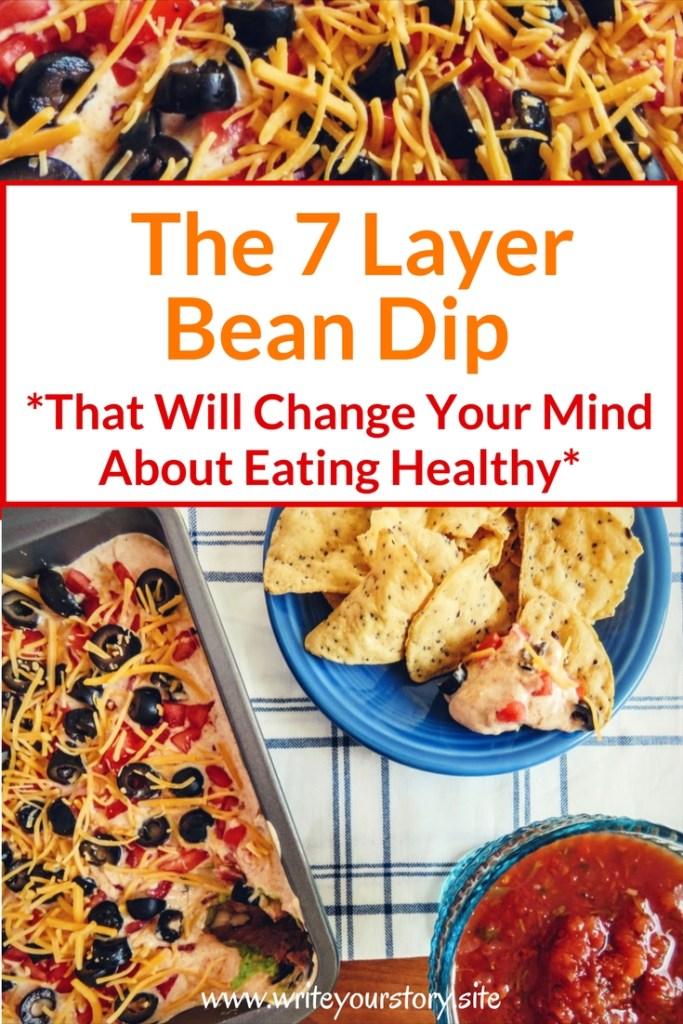 skinny 7 layer bean dip