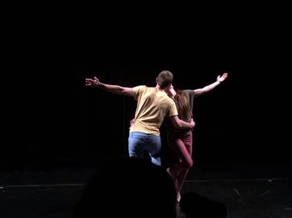Joe Garbett and Jessica Haener in No. Company at Emerge Festival