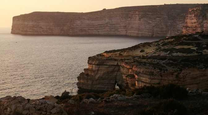 Sunset, Xlendi Bay
