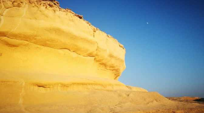 Limestone Cliffs and Salt Pans, Xlendi Bay