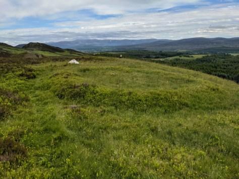 A view of the raised ring on Sidhean Mor Dail A' Chaorainn in Glen Banchor