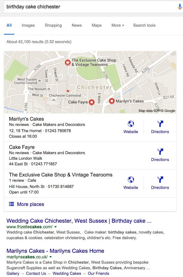 birthday cake chichester results