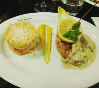Stuffed Chicken and Rice