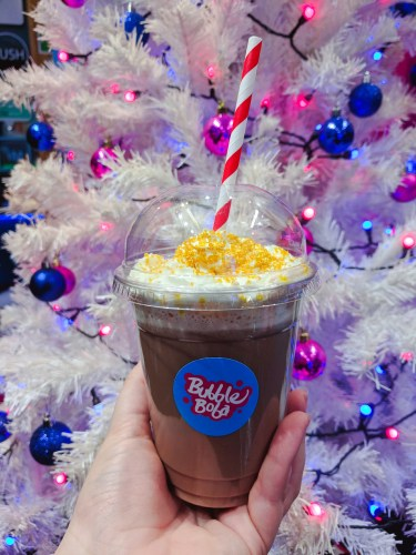 Bubble Boba UK Christmas Nutella Cheesecake Drink