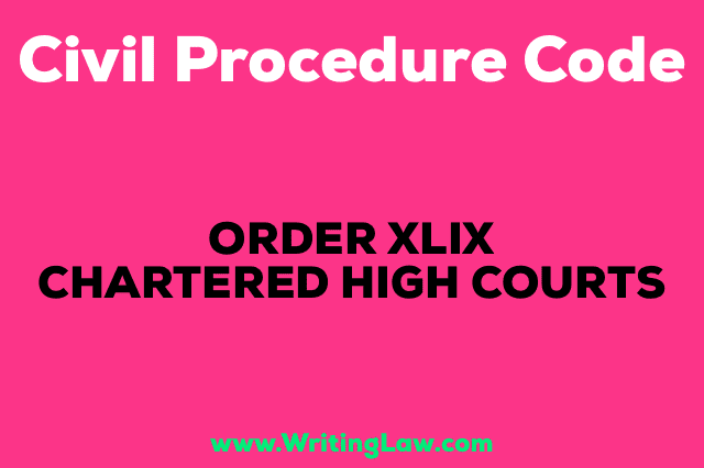 CHARTERED HIGH COURTS