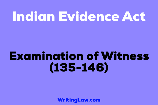 EXAMINATION OF WITNESS