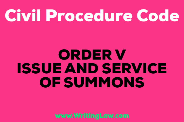 ISSUE AND SERVICE OF SUMMONS