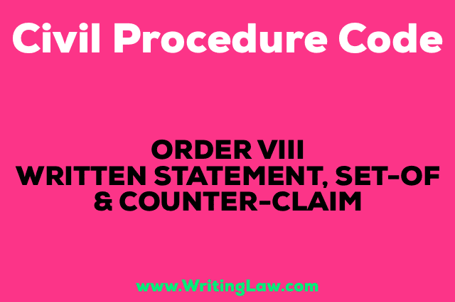 WRITTEN STATEMENT, SET-OF AND COUNTER-CLAIM