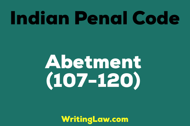 abetment legal meaning