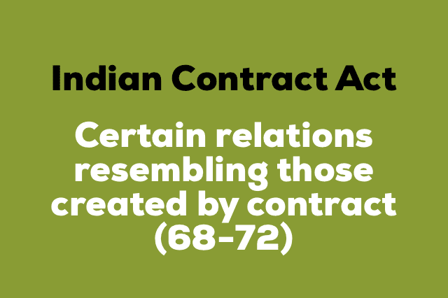 CERTAIN RELATIONS RESEMBLING THOSE CREATED BY CONTRACT