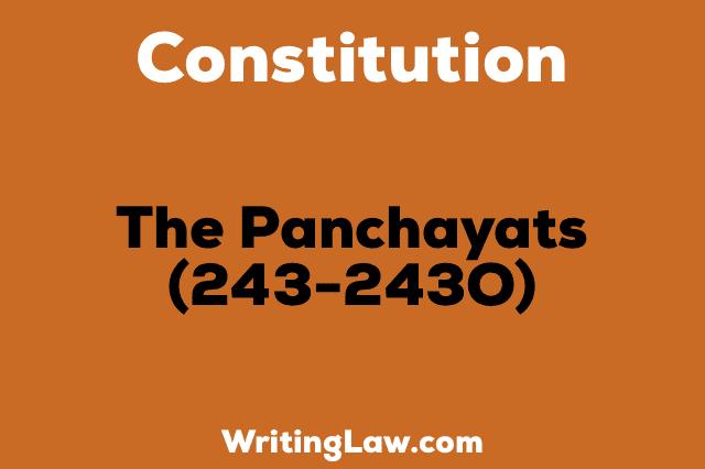 THE PANCHAYATS