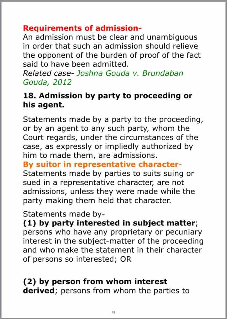 Evidence Act PDF Sample