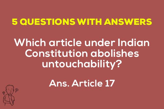 Article 17 Untouchability
